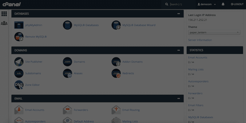 Economy Linux hosting services with cPanel